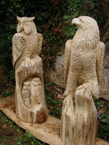 Kettensägen Motorsägen Skulpturen Holz Schnitzer Chainsaw Carvings