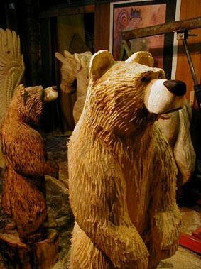 HOLGER BAER Chainsaw sculptures Kettensaegen Skulpturen BaerArt�