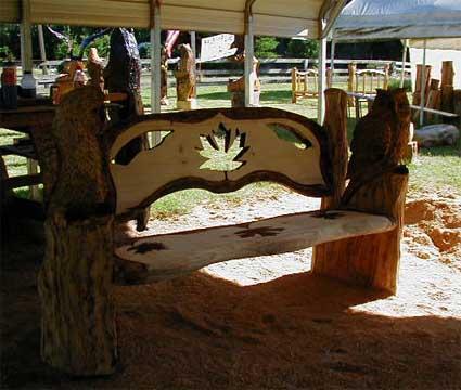 Holzeule Holz Eule Eulenbank Owlbench Kettensge Wood