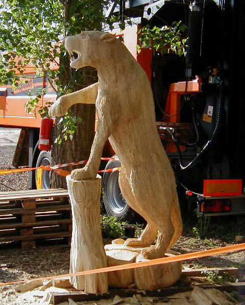 Motorsäge Holz Panther Carver Wood Chainsaw Artist Carving ...