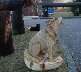 chainsaw carving fuchs