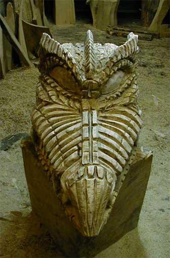 Dragon Skull Holzdrachen Schädel Holzfiguren Kettensäge ...
