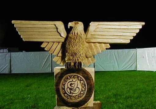 W o a wacken open air bär kettensägen kunst wood carver